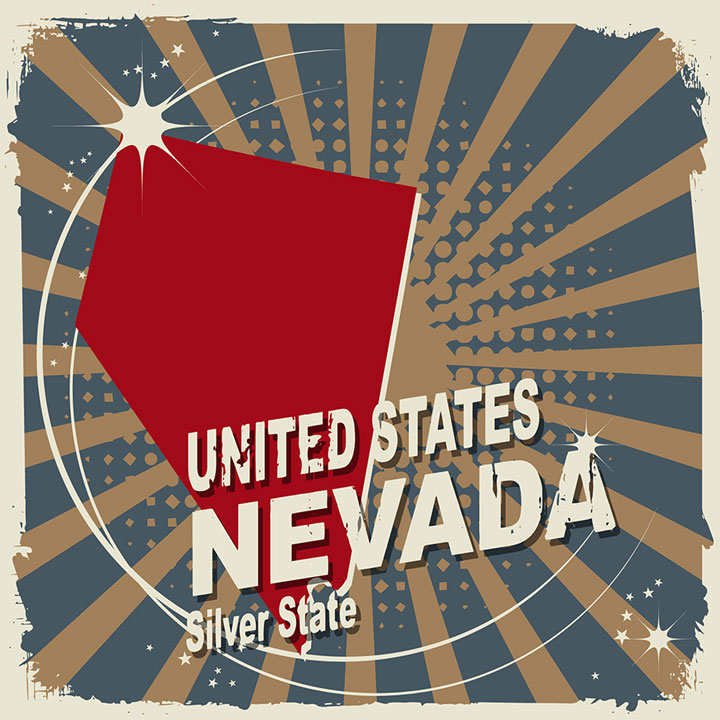 abstract nevada map
