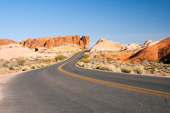 road in the Nevada desert
