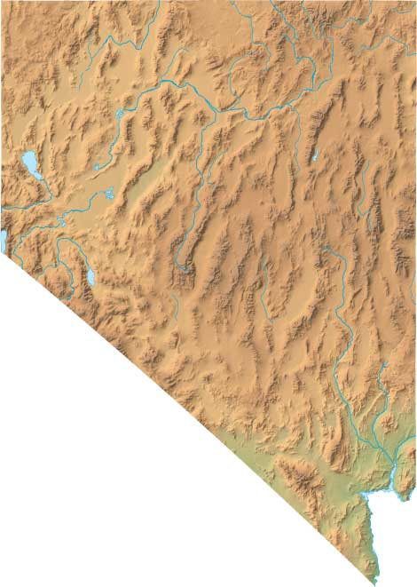 Nevada Relief Map - Interactive topo map